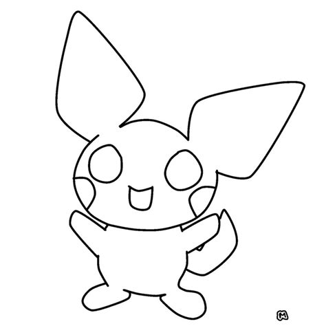 how to draw pichu pikachu l lineart coloring pages