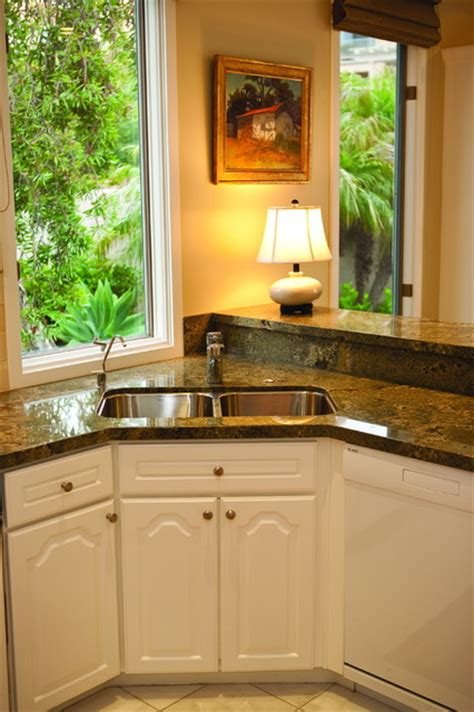 Corner Kitchen Sink Corner Sinks For Kitchens
