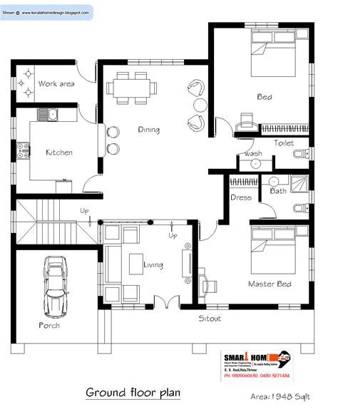House Plans by Kerala Home Plan And Elevation 2811 Sq Ft Kerala