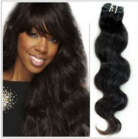 human hair extensions styles wavy weave black hairstyles