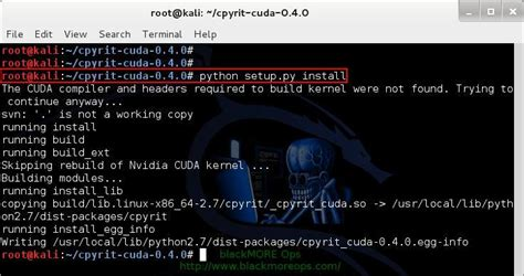 kali linux pyrit tutorial install nvidia driver kernel module cuda and pyrit on kali