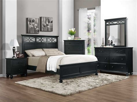 bedroom furniture set homelegance sanibel bedroom set black b2119bk bed set