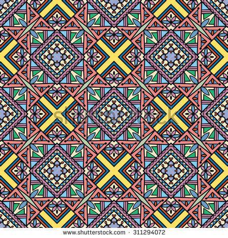 retro colors tribal vector seamless ndebele stock vector retro colors tribal vector seamless ndebele stock vector