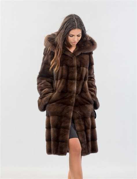 Mink Coat brown mink fur coat jacketin