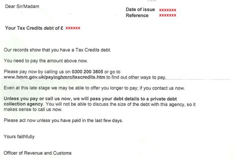 Tax Credit Overpayment Dispute Letter Being Harassed By Hmrc Or A Debt Company For Repayment Of A Tax Credit Overpayment Tax Credit