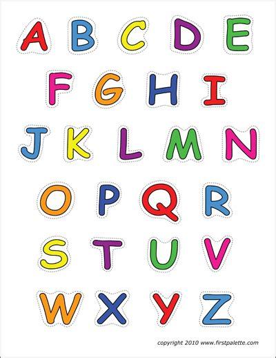 alphabet upper case letters printable templates