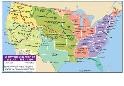 map of the united states during westward expansion manifest destiny westward expansion map