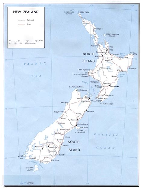 printable maps new zealand printable map of new zealand