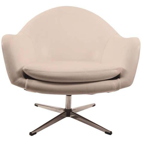 White Vinyl Swivel Pod Chair By Overman For Sale At 1stdibs Swivel Pod Chair