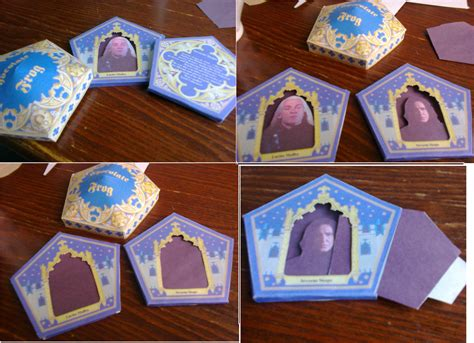 chocolate frog box template with cards handmade harry potter chocolate frog cards by galleyarts