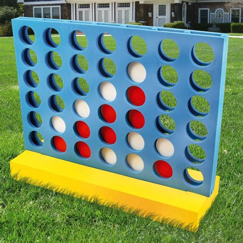 backyard kid games giant connect 4 in a row adults kids family fun party gift garden outdoor game ebay