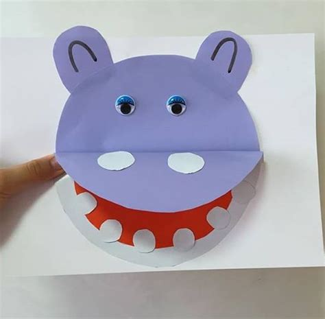 hippo paper plate craft paper hippo craft 2 171 preschool and homeschool