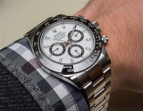 New Rolex Cosmograph Daytona Watch With Black Ceramic Bezel & Updated Movement Hands On
