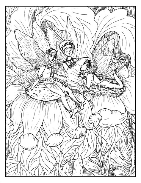 coloring pages detailed fairies fantasy fairy coloring pages az coloring pages