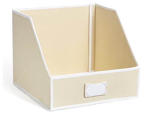 Linen Closet Storage Bins by Collapsible Linen Closet Storage Bin Beige Large