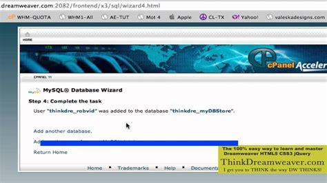 tutorial dreamweaver mysql dreamweaver cs5 5 php mysql video training tutorial how to