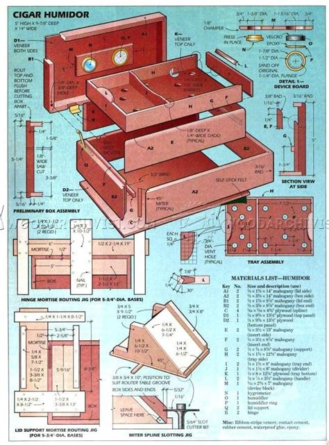humidor woodworking plans mahogany cigar humidor plans woodarchivist