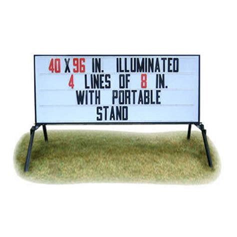 Business Signs Outdoor Lighted Outdoor Signs America Portable Lighted Business Sign With Stand 40 Quot X 96 Quot To Be Discontinued