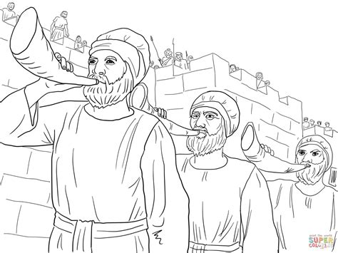 Bible Coloring Pages The Army And Coloring Pages On Pinterest Joshua Jericho Coloring Page