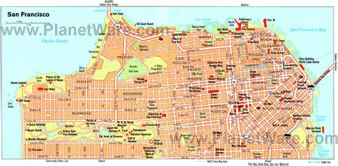san francisco map usa san francisco california map