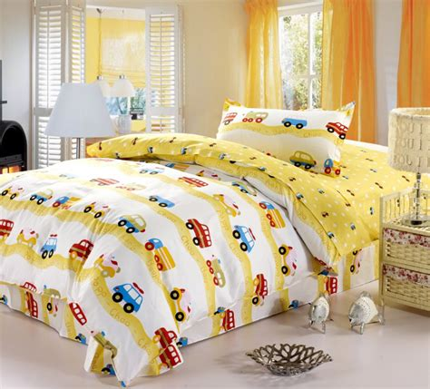 8 Best Childrens Bed Covers by 100 Cotton Car Bed Childrens Duvet Cover Set Boys
