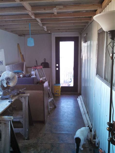 Mobile Home Ceilings by Complete Mobile Home Transformation Spectacular Shiplap