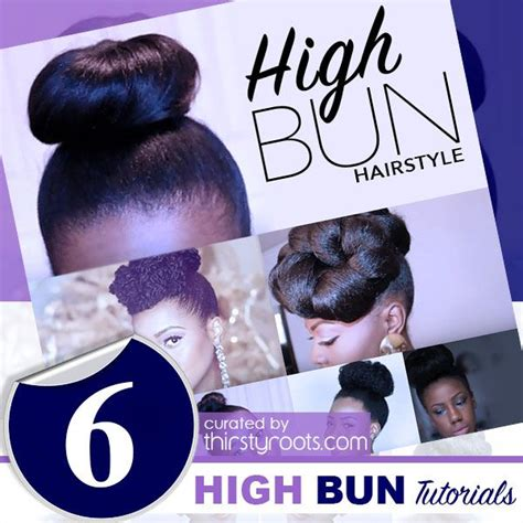 Hairstyles For Hair Black Tutorials by 6 Easy Updo High Bun Hairstyle Tutorials Shorts