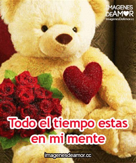 Imagenes Rosas Y Ositos | ositos corazon y rosa con mensajes de amor con movimiento