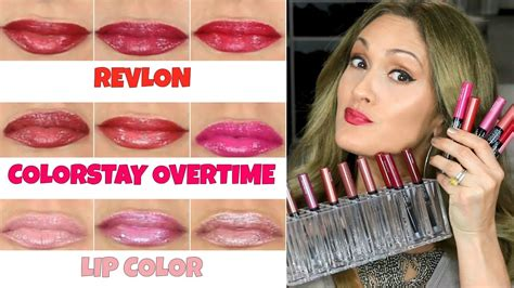 Lipstik Revlon Colorstay Overtime my fav colorstay liquid lipstick 18 swatches on