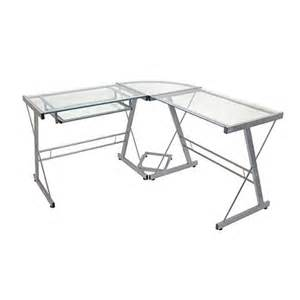 Target Dimmable Desk L L Shaped Glass Corner Computer Desk Target