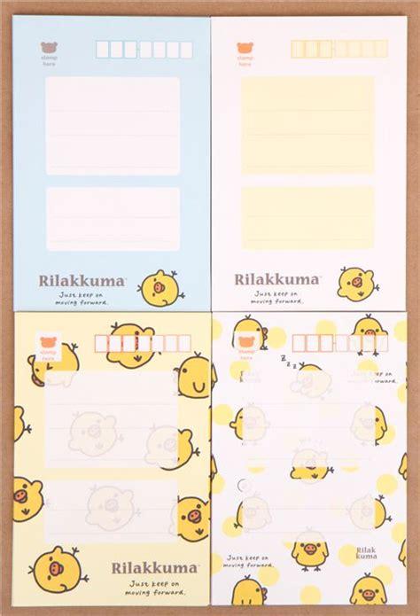 Rillakuma Japan Letter Set rilakkuma yellow polka dots letter paper set japan