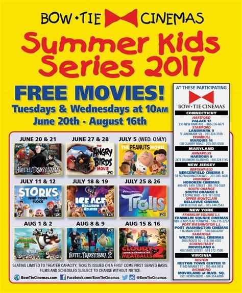 film series 2017 kids summer movie schedules
