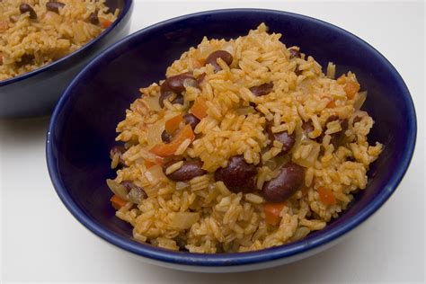 spanish rice with beans mexican food recipes
