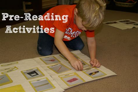 montessori pre reading activities