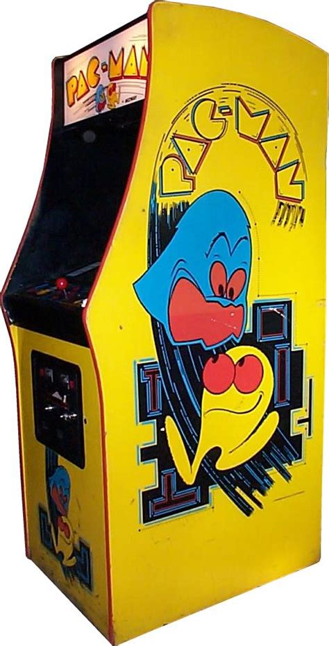 pac man arcade cabinet pac man videogame by midway manufacturing co