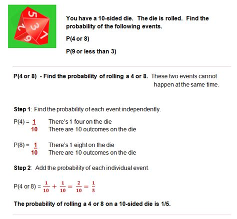 Compound Events Probability Worksheet by Probability Lessons Probability Of Compound Events