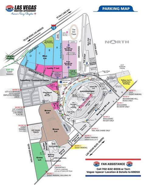 texas motor speedway cing map parking fan info las vegas motor speedway