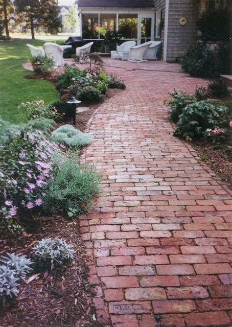brick walkway hardscapes pinterest