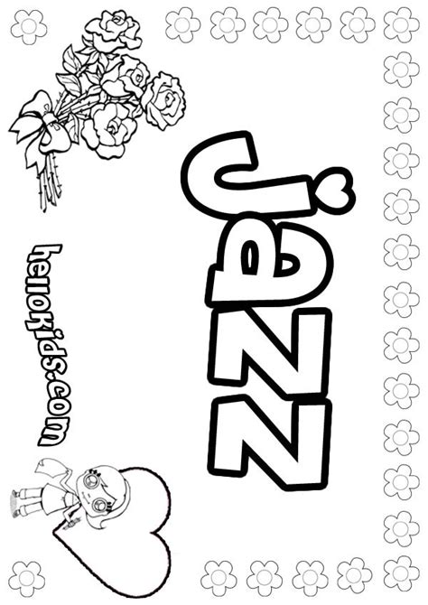 Jazz Coloring Pages jazz coloring pages hellokids