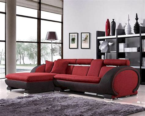 red and black sofa set red and black fabric sectional sofa set 44l1088b