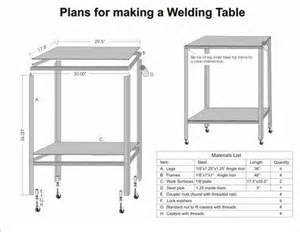 welding table plans the world s catalog of ideas