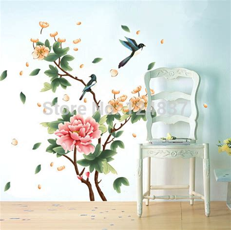 large flower wall stickers 140 210cm large flower wall sticker home decor tree