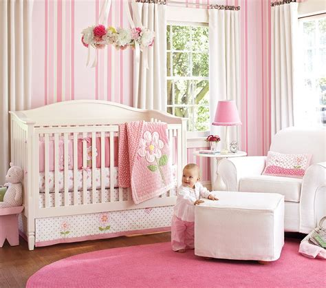 Baby Girls Bedroom | nice pink bedding for pretty baby girl nursery from