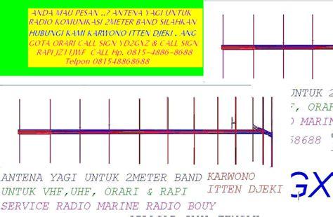 Antena Yagi Radio Komunikasi Antena Yagi 2meter Band Radio Komunikasi Antena Yagi Dua