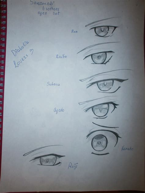 diabolik lovers subaru eyes diabolik lovers eyes set by yuki mio on deviantart