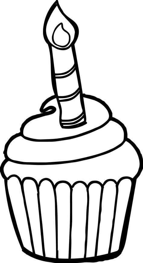 birthday cupcake coloring page happy birthday cupcake coloring page for kids holiday