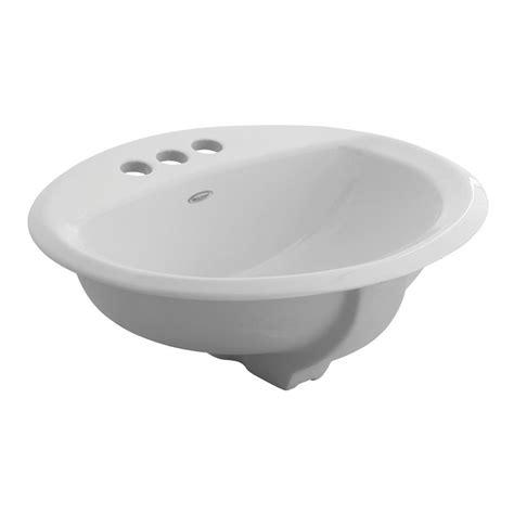 american standard bathroom sink american standard cadet round self rimming drop in