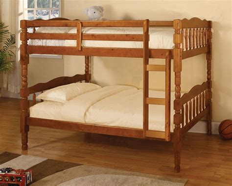 oak twin bed twin over twin catalina oak solid pine bunk bed