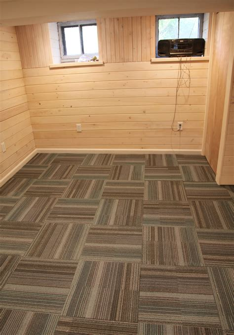 carpet tiles for basement floors our basement part 40 installing carpet tile stately kitsch