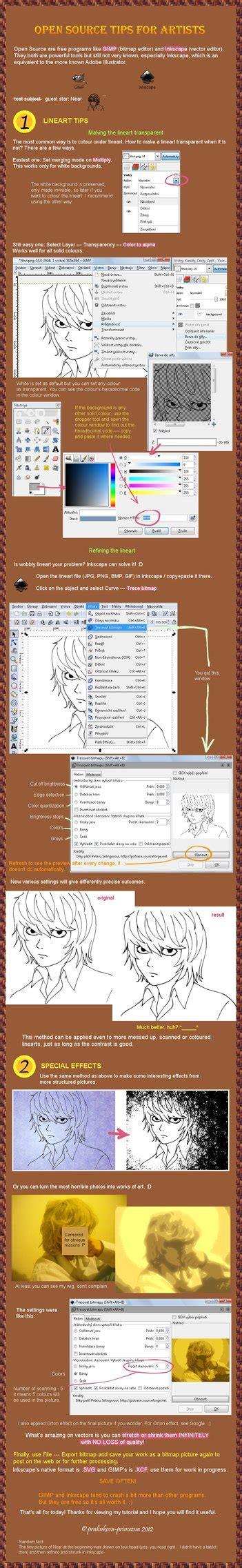 tutorial gimp inkscape tutorial lineart in inkscape gimp by pralinkova princezna